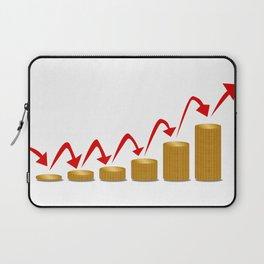 Rising Money Steps Laptop Sleeve