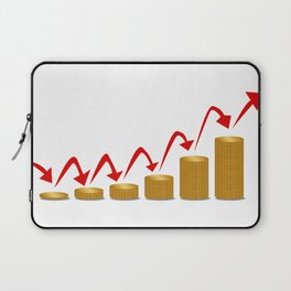 Rising Money Steps Laptop Sleeve