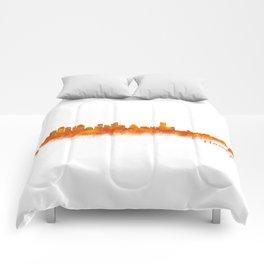 Houston City Skyline Hq v2 Comforters