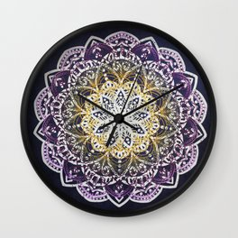 Glowing Mandala Wall Clock