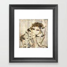 Silence shower Framed Art Print