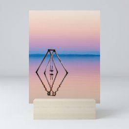 Stunning Salton Sea Swing Sunset (pink and blue) Mini Art Print