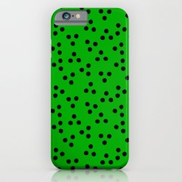 Kelly Green with Dots iPhone Case