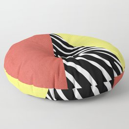 Zebra print geometry Floor Pillow