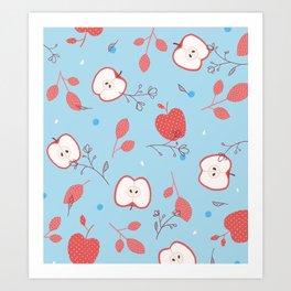 Happy Apples Art Print