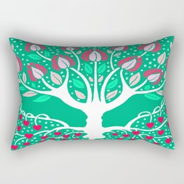 Love Grows Forever - Emerald Green Rectangular Pillow