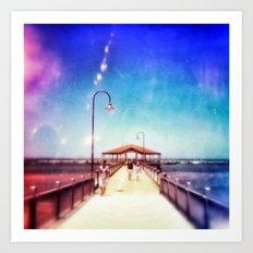 Pier Photo - A Stroll Along the Jetty Art Print Art Print