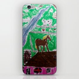 Happy Home Farm Ranch Kids Art Abstract iPhone Skin