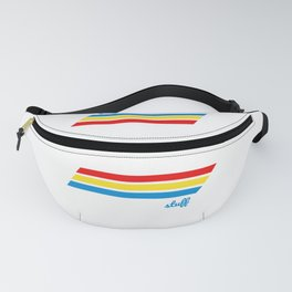 Retro Cooler Stripes Fanny Pack