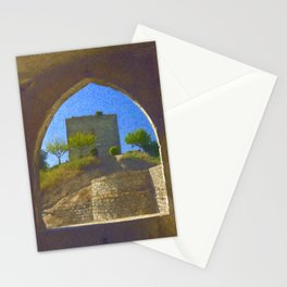 Portuguese castle window Stationery Cards