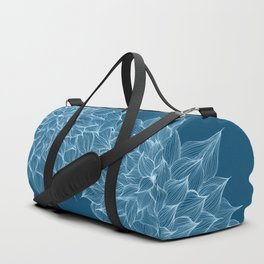 Flowers Blue Duffle Bag