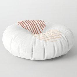 Terra Lined Circles Floor Pillow