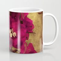 vintage flowers Mugs featuring Vintage Flowers by Christine Belanger