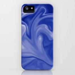 Marble Blues White iPhone Case