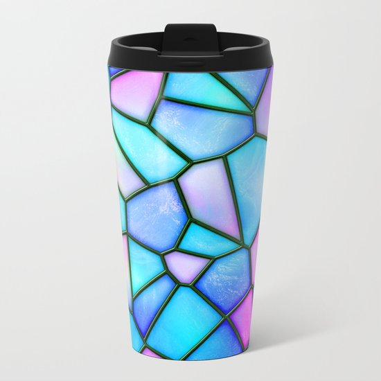 pastel stained glass Metal Travel Mug