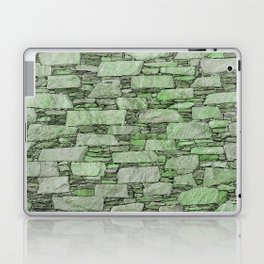 Green terrazzo wall with shale stones Laptop & iPad Skin
