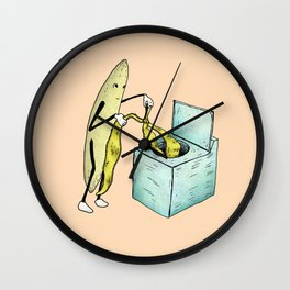 Banana Laundry Wall Clock