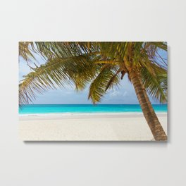 Tropical Ocean Palm Tree Metal Print