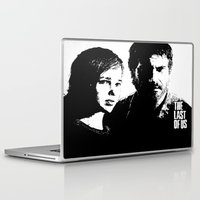 last of us Laptop & iPad Skins featuring The Last of Us  by Black And White Store
