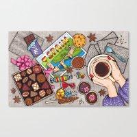 chocolate Canvas Prints featuring Chocolate by Natalia Illarionova