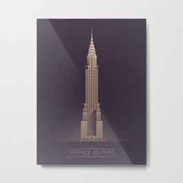 Chrysler Building New York Art Deco - Vintage Dark Metal Print