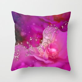 Wonderful floral design in ultra violet Throw Pillow