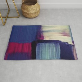 minimal painting, simple colours, block colours Rug