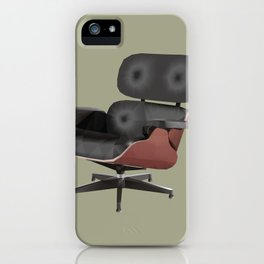Eames Lounge Chair Polygon Art iPhone Case