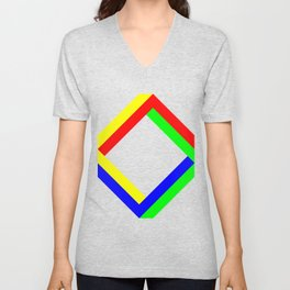 Penrose Square Rotate 45 Unisex V-Neck