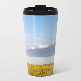 Morass grass in sun rising Travel Mug
