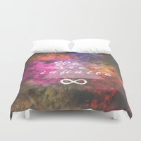 infinite Duvet Covers featuring Infinite by MJ Mor