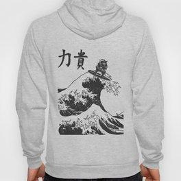 Samurai Surfing The Great Wave off Kanagawa Hoody