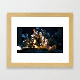 Stuck. Framed Art Print