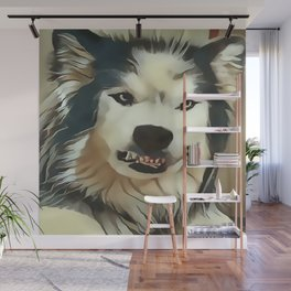Angry Wolf - Wheres My Coffee ? Wall Mural