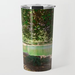 tree by the lake    color Travel Mug