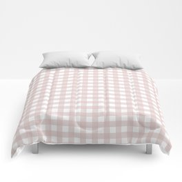 Dusty Pink gingham Comforters