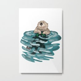 Why I Otter Metal Print