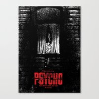 psycho Canvas Prints featuring Psycho by Dan K Norris