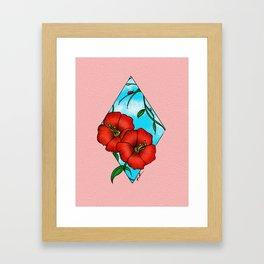 HIBISCUS GEOMETRIC Framed Art Print