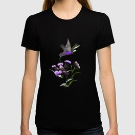 Violet Sabrewing Hummingbird and Thistle T-shirt