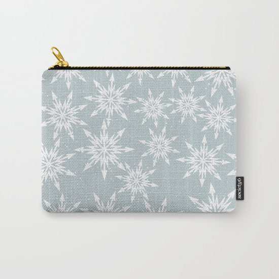 Merry Christmas Wintertime - Snowflakes pattern Carry-All Pouch