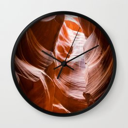Red Waves | Antelope Canyon Nature Desert Landscape Photography in Arizona Wall Clock