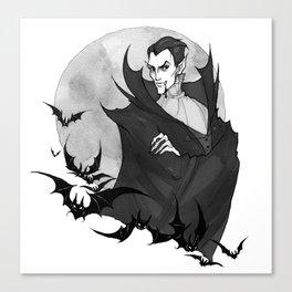 Inktober Vampire Canvas Print