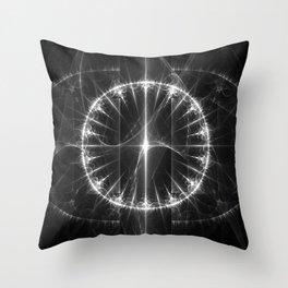 White Circle Throw Pillow
