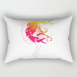 Rainbow Naraku - White Rectangular Pillow