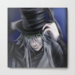 Undertaker Hat Tip Metal Print