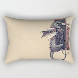 Arabesque Dragon Rectangular Pillow