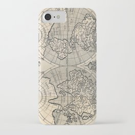 Vintage Map of The World (1598) iPhone Case