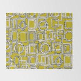 picture frames aplenty indigo chartreuse Throw Blanket