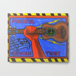 Ukes For Peace Metal Print